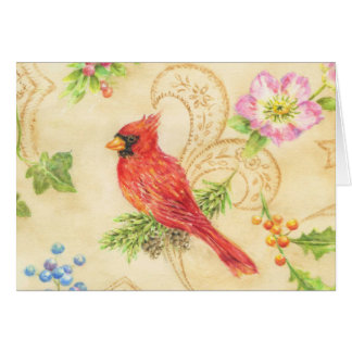 Estilo cardinal del vintage de la tarjeta de