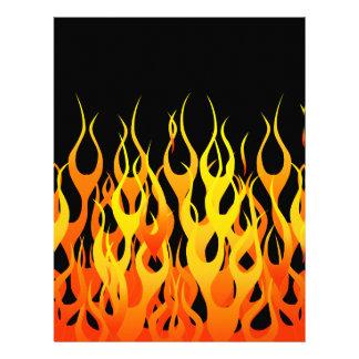 Estilo clásico del coche de carreras de las llamas folleto 21,6 x 28 cm