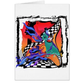 Estilo colorido del arte pop del músico del tarjeta de felicitación