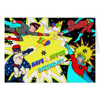 Estilo colorido del cómic de la tarjeta de cumplea