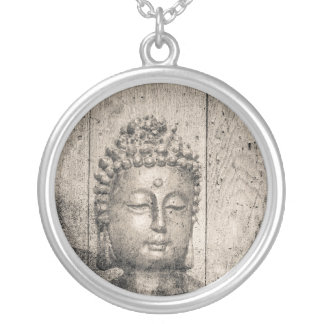 Estilo de Buda del vintage Collar Plateado