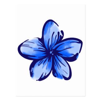 Estilo de Hawaii de la flor del Plumeria Postal