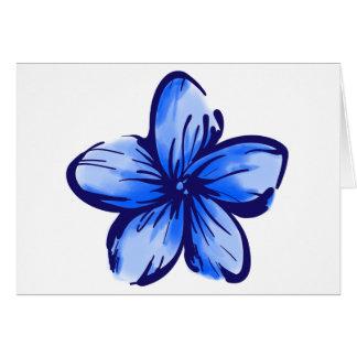 Estilo de Hawaii de la flor del Plumeria Felicitación
