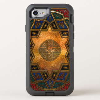 Estilo de la antigüedad del art déco del Arabesque Funda OtterBox Defender Para iPhone 8/7