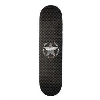 Estilo de la fibra de carbono de la etiqueta del patin personalizado