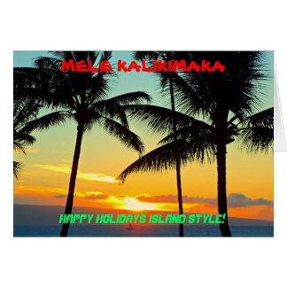 ¡ESTILO DE LA ISLA DE MELE KALIKIMAKA BUENAS FIEST FELICITACIONES