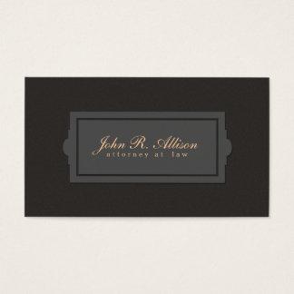 Estilo de la placa del abogado de la mirada de la tarjeta de negocios