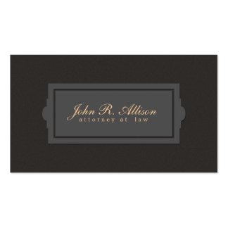 Estilo de la placa del abogado de la mirada de la tarjetas de visita