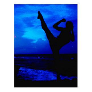 Estilo de la playa del Taekwondo Postal
