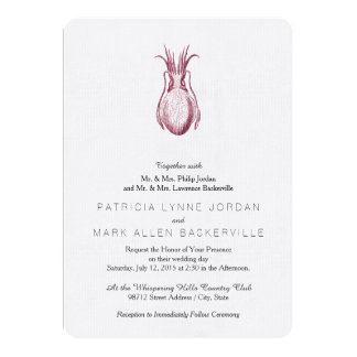 Estilo de la prensa de copiar de las jibias invitación 12,7 x 17,8 cm