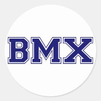 Estilo de la universidad de BMX Pegatina Redonda
