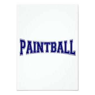 Estilo de la universidad de Paintball Invitación 12,7 X 17,8 Cm