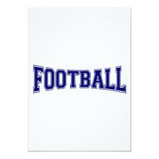 Estilo de la universidad del fútbol invitación 12,7 x 17,8 cm