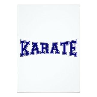 Estilo de la universidad del karate invitación 12,7 x 17,8 cm