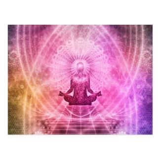 Estilo de la yoga de la meditación postal