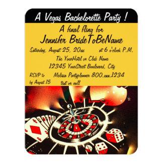 Estilo de Las Vegas del fiesta de Bachelorette Invitación 10,8 X 13,9 Cm