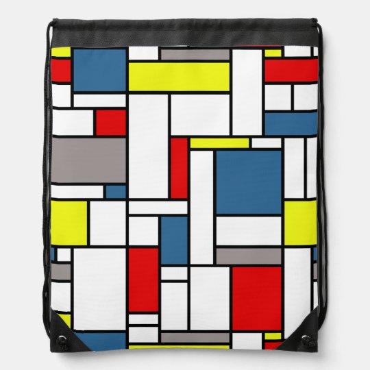 Estilo de Mondrian Mochila