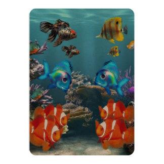 Estilo de Sealife del acuario Invitación 12,7 X 17,8 Cm