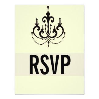 Estilo de Vegas que casa las tarjetas de RSVP o Invitación 10,8 X 13,9 Cm