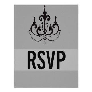 Estilo de Vegas que casa las tarjetas de RSVP o la Invitación Personalizada