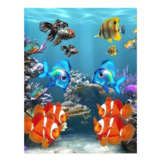 Estilo del acuario folleto 21,6 x 28 cm