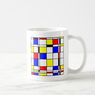 Estilo del arte de Mondrian Tazas De Café