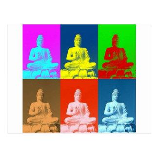 Estilo del arte pop de Buda Postal