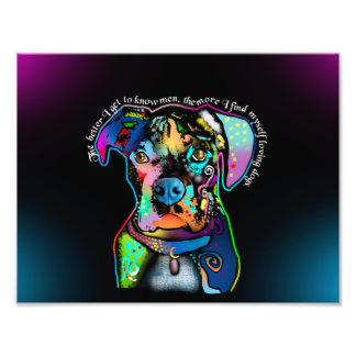 Estilo del arte pop del perro del boxeador para impresiones fotográficas