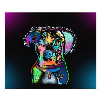 Estilo del arte pop del perro del boxeador para arte fotográfico