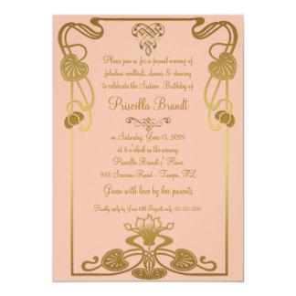 Estilo del cumpleaños, de Gatsby del dulce Invitación 12,7 X 17,8 Cm