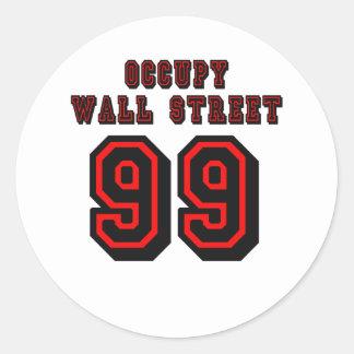 Estilo del fútbol: Ocupe Wall Street - 99 Pegatina Redonda