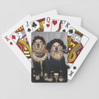 Estilo del gótico del golden retriever baraja de cartas