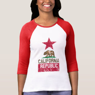 Estilo del Grunge de la bandera del estado de la Camiseta