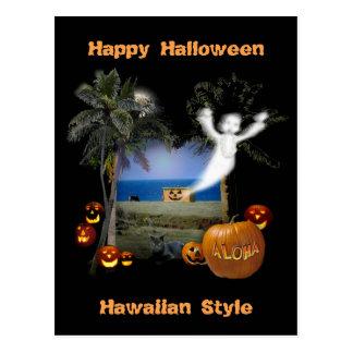 Estilo del Hawaiian del feliz Halloween Postal