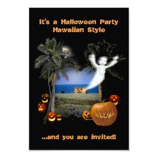 Estilo del Hawaiian del fiesta de Halloween Invitación 8,9 X 12,7 Cm