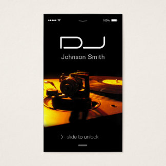 estilo del IOS del iPhone - Pub DJ del auricular Tarjeta De Negocios