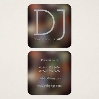 Estilo del ir de discotecas de la noche de DJ Tarjeta De Visita Cuadrada