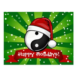 Estilo del navidad de la balanza de Yin Yang Postal