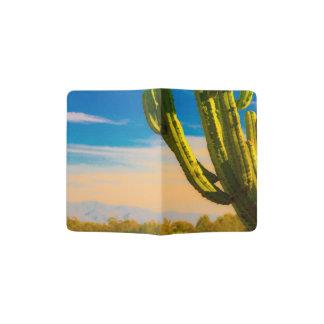 Estilo del oeste del dibujo animado del cactus del porta pasaportes