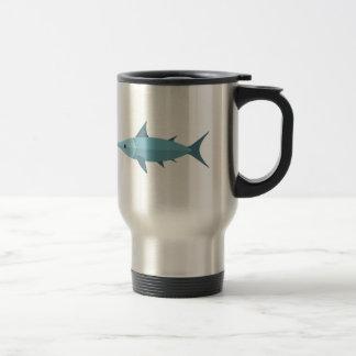 Estilo del primitivo de los peces espadas taza de viaje