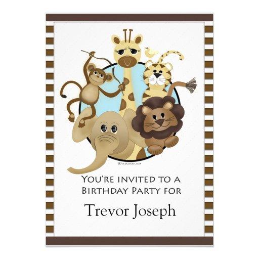 Estilo del safari de Invitiation de la fiesta de c Invitacion Personal