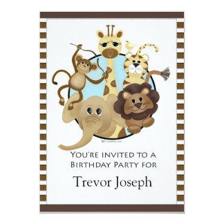 Estilo del safari de Invitiation de la fiesta de Invitacion Personal