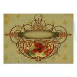 Estilo del Victorian de la flor de lis de las amap Tarjetas