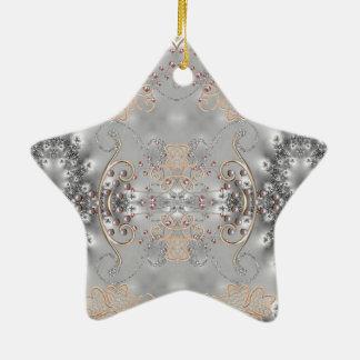 Estilo del Victorian - fractal - ornamento de la e Ornamentos De Navidad