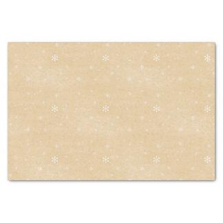 Estilo del vintage del copo de nieve papel de seda