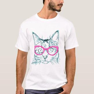 Estilo divertido del gato del inconformista camiseta