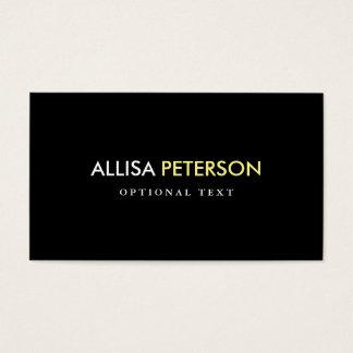 Estilo elegante amarillo y negro - alto contraste tarjeta de negocios