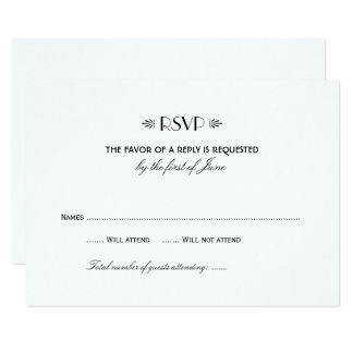 Estilo elegante del art déco de la tarjeta el 1% invitación 8,9 x 12,7 cm