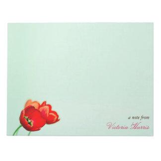 Estilo floral del bokeh de la verde menta del tuli bloc de papel