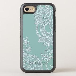 Estilo grabado en relieve Paisley blanca en la Funda OtterBox Symmetry Para iPhone 7